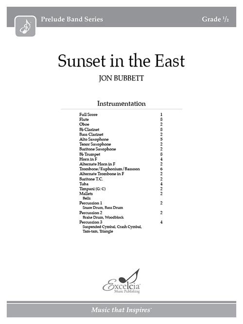 Sunset in the East - Full Score