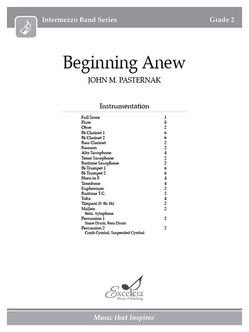 Beginning Anew - Full Score