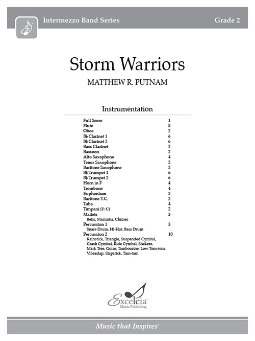 Storm Warriors - Full Score