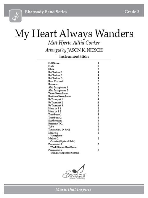 My Heart Always Wanders - Full Score