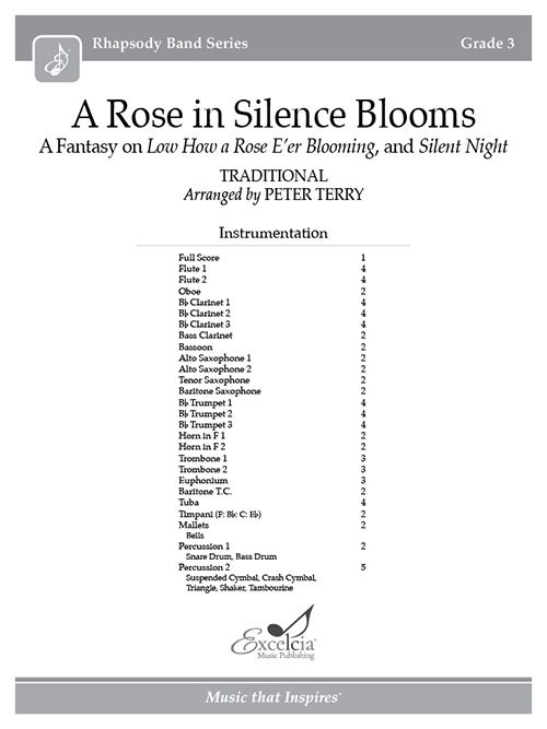 A Rose in Silence Blooms - Full Score